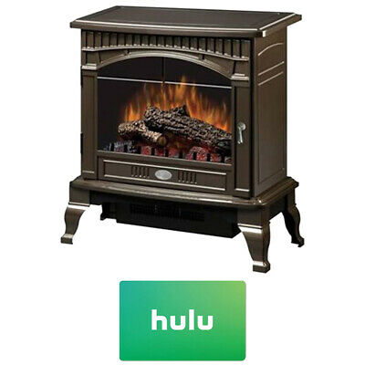 Dimplex Electric Stove-Style Fireplace in Bronze w/ Hulu $25 Gift Card -DS5629CR