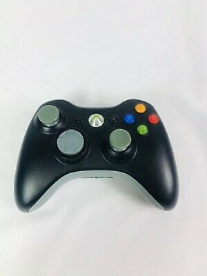 Official Microsoft Xbox 360 BLACK Wireless Video Game Controller