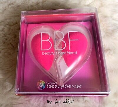 Guaranteed Auth! BEAUTY BLENDER Heart Duo BBF SET 2 Pink Blenders NEW + SEALED!