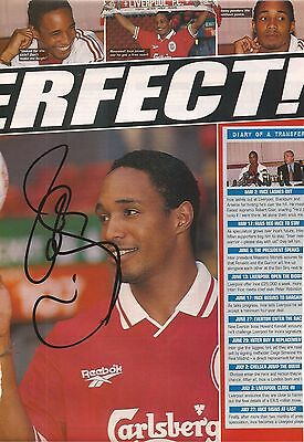 LIVERPOOL: PAUL INCE SIGNED A4 (12x8) MAGAZINE PICTURE+COA