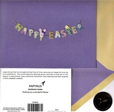 BLUE//GREEN CROSS CARD MRP $5.95 PAPYRUS EASTER CARD NIP