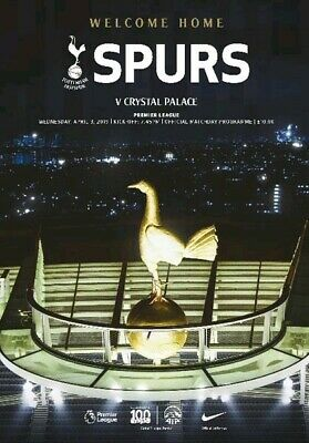 Official Programme At New Stadium Tottenham Spurs v Crystal Palace 3 April 2019