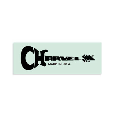 Charvel® USA Early 1980s Waterslide Headstock Decal BLACK