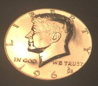 1964 50C Kennedy Half Dollar 90% SILVER - UNCIRCULATED & SHARP - FREE SHIPPING