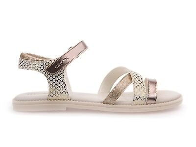 a87ed47a54c957 Sandali Bambina Junior Geox Estate J5235D 004Bn C1240 Jr Karly Off  White/Gold