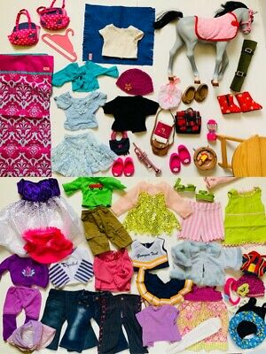 """Huge Lot Of 18"""" Doll Clothes, Shoes & Accessories Fits American Girl ,!!!"""