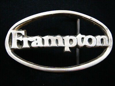 RH03158 VINTAGE 1970s **FRAMPTON** MUSIC COMMEMORATIVE SOLID BRASS BELT BUCKLE