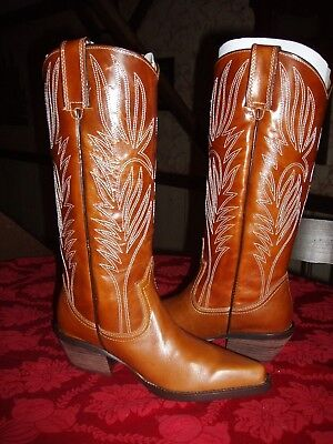812b00af4d1 STEVE MADDEN SHYANN COWGIRL WESTERN BOOTS Sz. 6 M- Bronze Leather ...