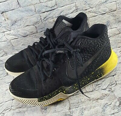 online store 7226e 2130d Nike Kyrie 3 Black Yellow White Mamba Mentality Bruce Lee 852395-901 Shoes  Sz 8