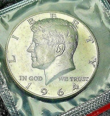1964 D SMS Uncirculated Mint Silver Kennedy Half Dollar Mint Cello Exactly Shown