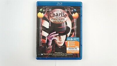 Charlie and the Chocolate Factory (Blu-ray Disc, 2011, No Digital) Johnny Depp