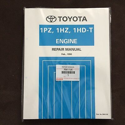 1HZ 1HDT 1HD-T 1PZ Toyota Land Cruiser Diesel Engine Service Repair Manual