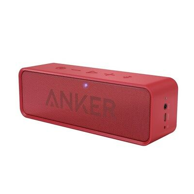 Anker SoundCore Bluetooth Portable Wireless Speaker 24Hr Playtime A3102 Red
