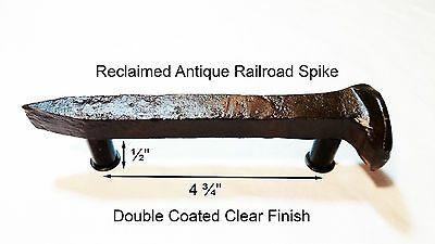 "4-3/4"" Right Sealed Railroad Spike Dresser Drawer Cabinet Handle Antique Vintage"