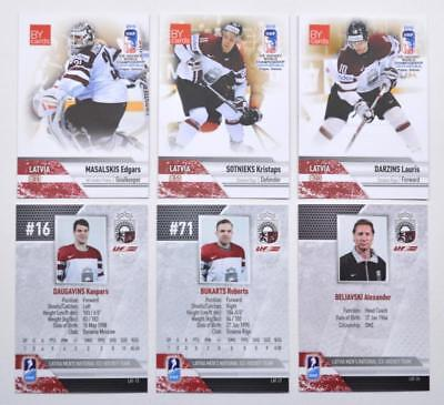 2015 BY cards IIHF World Championship Team Latvia Pick a Player Card
