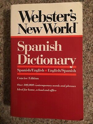 Webster's New World Spanish/English Dictionary by Mike Gonzalez (1992 Paperback)