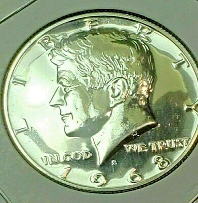 1968 - S   John F Kennedy Half Dollar From Mint Proof Set 40% Silver Free S/h
