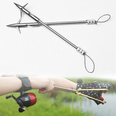 Durable Stainless Steel Hunting Slingshot Shooting Fish Arrow Fishing Catapult-