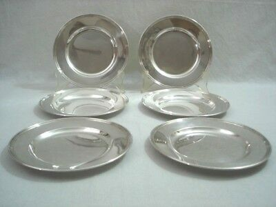 "International Sterling Silver 6"" Bread or Dessert Plate H413 Lot of 6 Plates VGC"