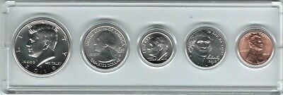 2018P US Mint, Five Coin Set, JFK 1/2, ATB 1/4,DIME,NICKEL,CENT, In Clear Holder