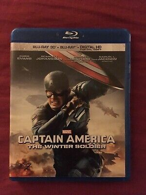 Captain America The Winter Soldier 3D Blu-ray and Blu ray Disc