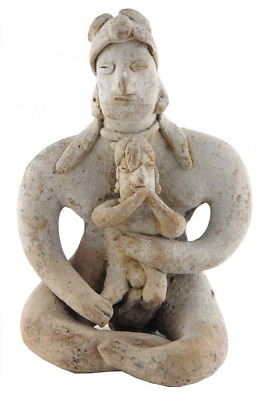 Pre-Columbian Mexico Colima Mother and Child Figure