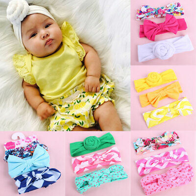 In 3x Elastic Baby Headdress Kids Hair Band Girls Bow Newborn Headband Babies Bands Fashionable Style;