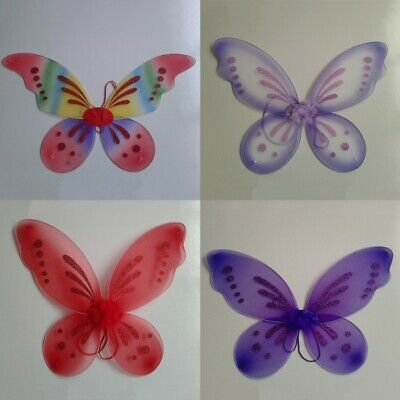 Fashion Kid Fancy Princess Party Cosplay Outfits Girl Angel Fairy Butterfly Wing