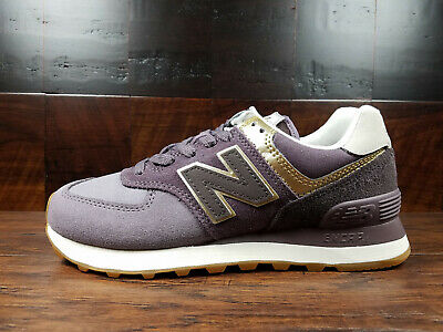 New Balance 574 Metallic Patch Light Cliff Grey Light Gold