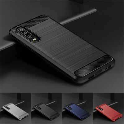 For Huawei P30 Pro P30 Lite P20 Shockproof Slim Fiber Carbon Soft TPU Cover Case