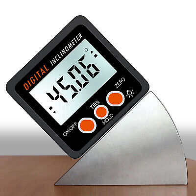 4*90° Digital Inclinometer Level Box Protractor Angle Finder LCD display magnets