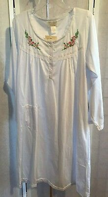 89b4d2cccd9b Lati Fashion Intimates Collection Medium Blue Floral Embroidered Night Gown  NWT