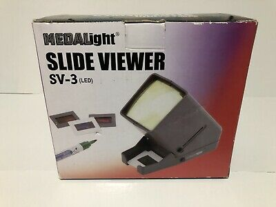 Medalight 35mm Desk Top Slide Viewer 2 Adapters Included