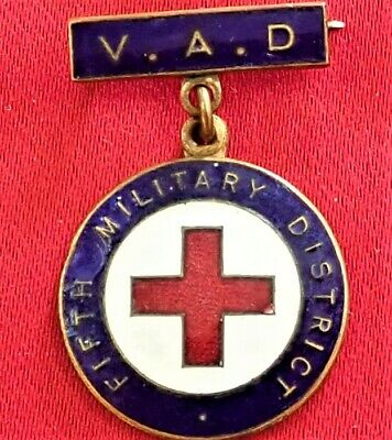 Ww1 - Ww2 Era Australian V.a.d. Hospital Orederly Badge Medal Wa 5Th M.d.