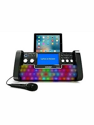 iKaraoke KS780-BT Bluetooth CD&G Karaoke System, Black *New*