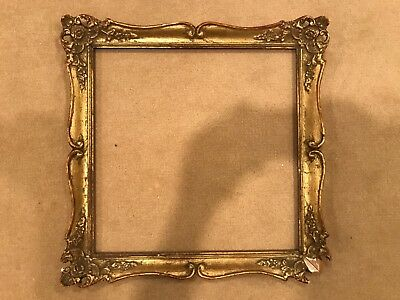 Antique 15x15 Square Italian or French Baroque Gold Gilt Picture Frame E
