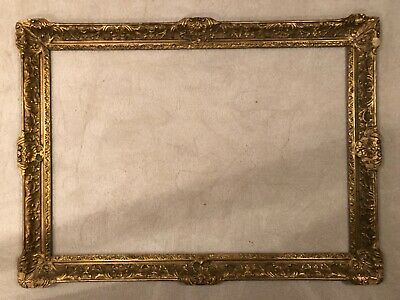 Antique Large Newcomb Macklin Style Arts Craft Baroque French Gold Picture Frame