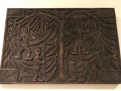 Rare Antique African Carved Granary Door or Wood Panel e
