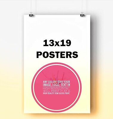 13x19 Custom Printed Poster semi-Glossy Print Your Own Image Photo Art logo