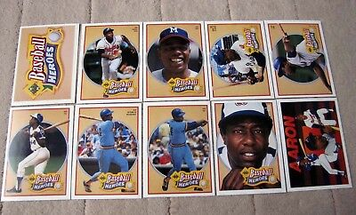 1991 Upper Deck Hank Aaron Heroes Baseball Card Singles You Pick