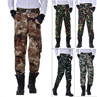 Men Military Army Pants Camouflage Trousers Outdoor Sport Long Pant Summer S-3XL