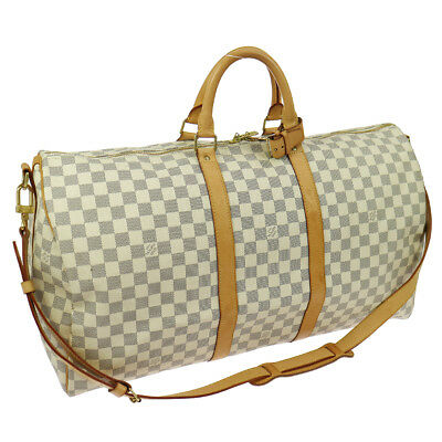 bfeb9dcfec51 Auth LOUIS VUITTON Keepall Bandouliere 55 2way Travel Bag Damier N41429  B31869d