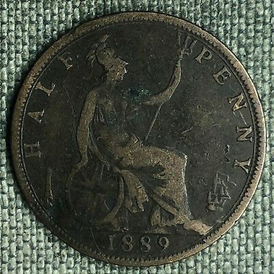 Great Britain 1/2 Penny, 1889 - A01826