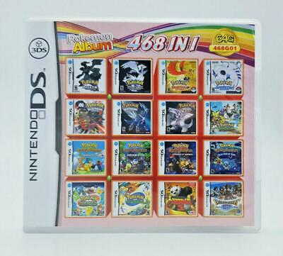 Video Game DS 3DS Cartridge Card Game Console 468 In 1 MULTI CART