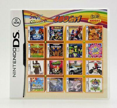 Video Game DS 3DS Cartridge Card Game Console 480 In 1 MULTI CART