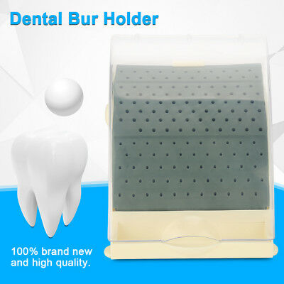 142 Holes Dental Bur Holder Block Stand Disinfection Case with Pull out Drawer z