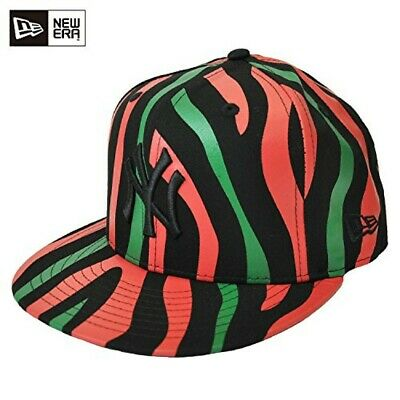 3123562f NEW ERA 59FIFTY Cap Red & Green Stripes New York Yankees HIP HOP Mens Size