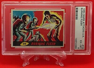 1964 Mars Attacks UK BURNING FLESH #19 EXCELLENT-MINT 6 - A&BC garno PSA