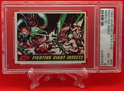 1964 Mars Attacks FIGHTING GIANT INSECTS #45 EXCELLENT-MINT 6 - A&BC garno PSA