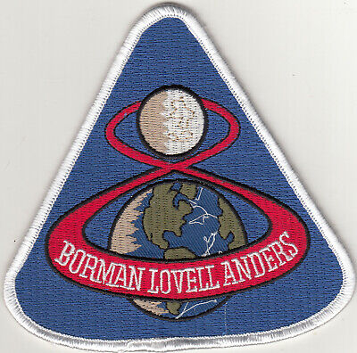 USA. NASA. Apollo 8. 2nd Manned Spaceflight Mission to the Moon Mint Patch.